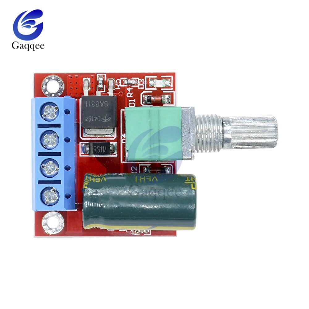 Mini 5A 90 W 12 V PWM DC Módulo de controlador de velocidad del Motor 4,5 V-35 V regulador de velocidad ajustable interruptor de Control del gobernador 24 V