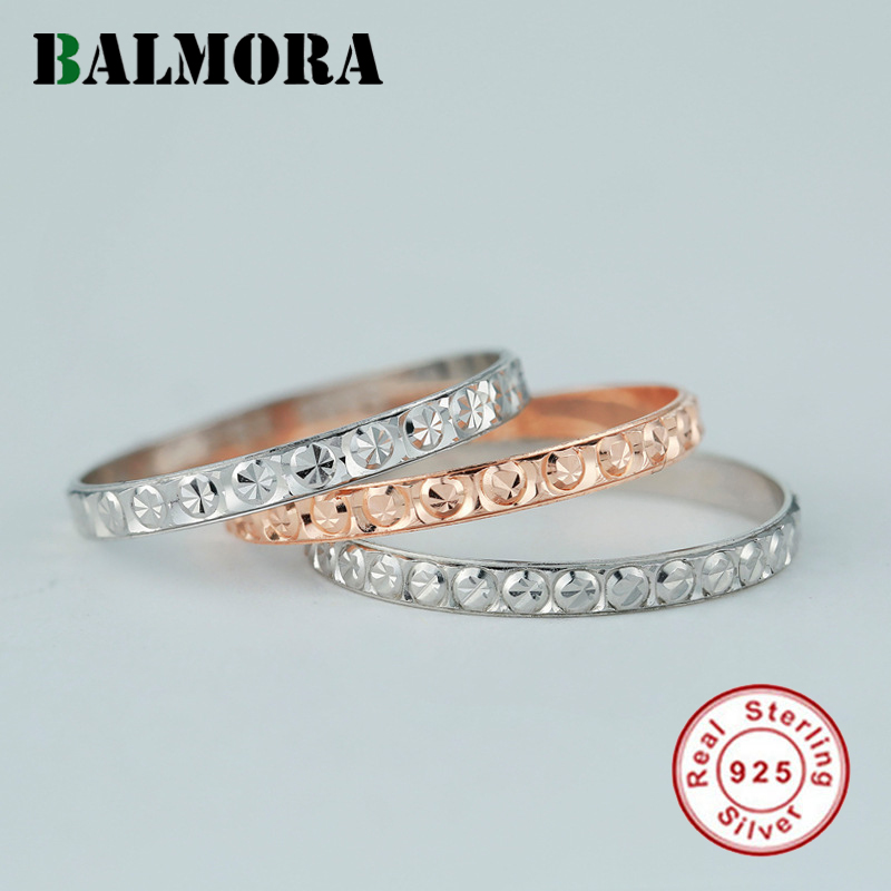 BALMORA 1 Piece 925 Sterling Silver Midi Finger Knuckle Rings for Women Gypsophila Stackable Joint Ring Jewelry Anillos R190002 image