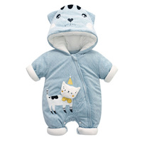 Baby Winter Clothes Romper Cotton Boy Girl Animal Rompers Thick Warm Newborn Cartoon Cotton Coat Baby's Sets