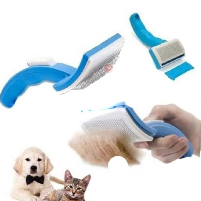 Handle Pet Comb Brush Plastic Shedding Hair Remover Tools Fine Trimmer Dog Cat Cleaning Grooming massage Brush pet Accessories