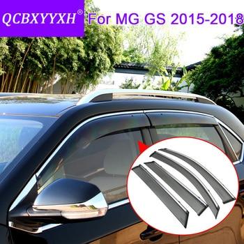 QCBXYYXH Car Styling 4pcs/lot Window decoration rain gear block Visors For MG GS 2015-2018 Sun Rain Shield Stickers Covers