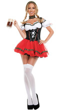 Ladies Sexy Oktoberfest Beer Girl Costume German Bavarian Beer Wench Fancy Dress