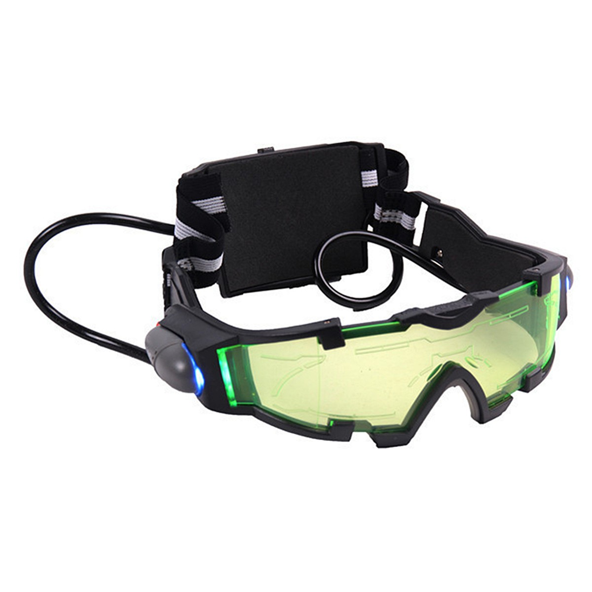 NEW Safurance Adjustable ElasticMilitary Night Vision Goggles Glasses Security Eyeshield Workplace Safety Eye Protection adjustable windproof elastic band night vision goggles glass children protection glasses green lens eye shield with led