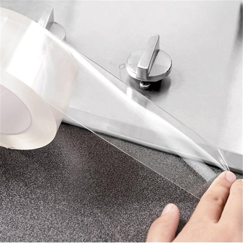 Водостойкая самоклеящаяся прозрачная лента для кухонной раковины, водостойкая лента для ванной комнаты, самоклеящаяся лента для воды в бассейне