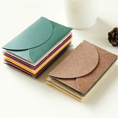 50pcs/lot Handmade Mini Envelopes Vintage Colored Pearl Blank Paper Envelope Wedding Invitation Envelope Christmas Gift Envelope
