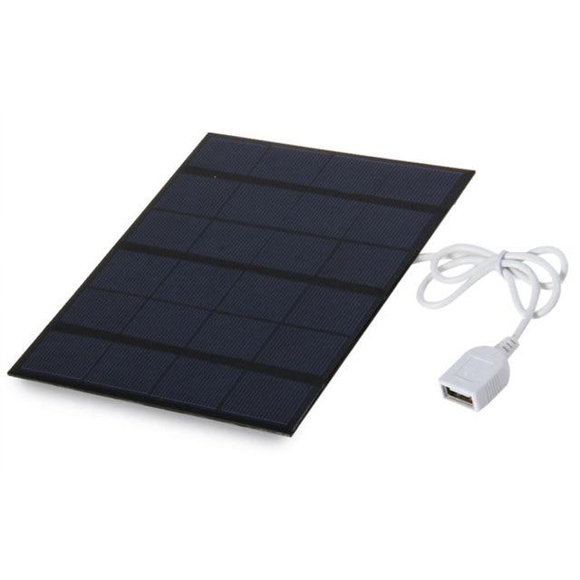 kebidu Portable Solar Panel USB Travel Battery Charger  5V 3.6W 500MA for Power Bank Phone USB Multimedia