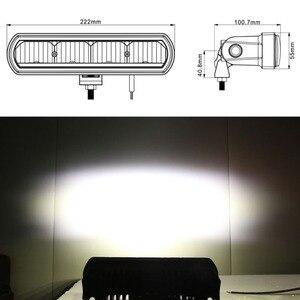 Image 2 - 8 pouces 40W mince barre de Led hors lumière de route pour voiture 12V 24V Wrangler jk ATV SUV camion moto faisceaux dinondation Barra 4x4 feux de route
