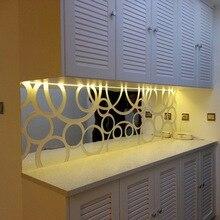 Mirror Wall Sticker Art Decorative Family Decoration Living Room Bedroom Bedside