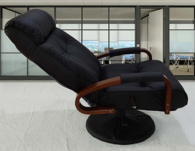 home office arm chair. Modern Leather Home Office Chair Reclining Adjustable Computer Furniture Executive Armchair Arm R
