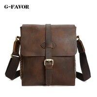 G FAVOR Designer Famous Brand Fashion Genuine Leather Shoulder Bag Men Vintage Mini Handbag Crossbody Phone Messenger Bag bolsas