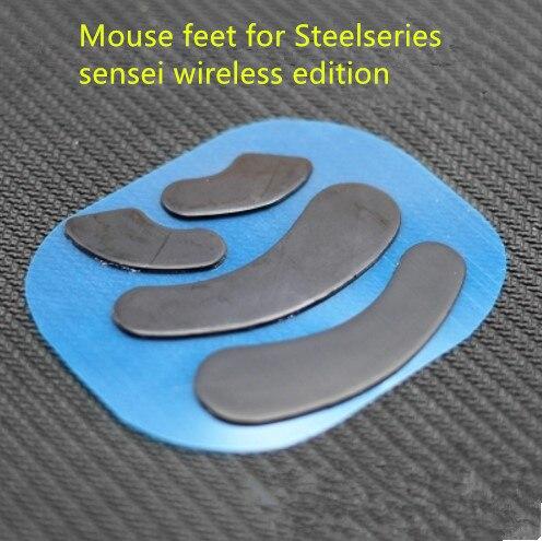 2 Sets/pak Teflon Mouse Skates Muis Voeten Voor Steelseries Sensei Draadloze Editie 0.6mm Dikte Muis Glijdt Grote Uitverkoop