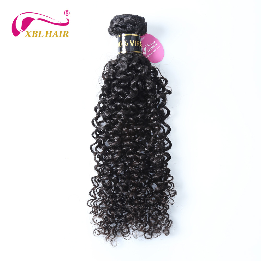 XBL HAIR Unprocessed Brazilian Virgin Hair Curly Weave Human Hair Extensions Natural Color 1 Bundle 8-30 Inches Free Shipping