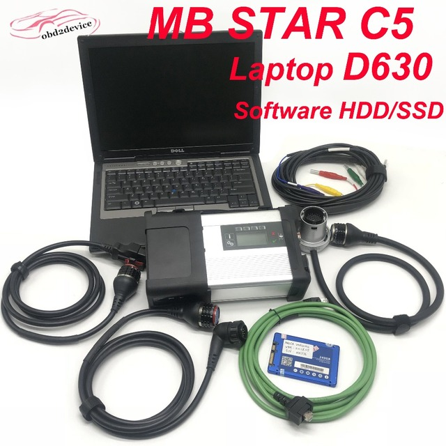 Cheap MB Star C5 SD Compact C5 with Software V201812 HDD/SSD and Laptop D630 Car OBD2 Scanner Full Set Ready to work Better than C4