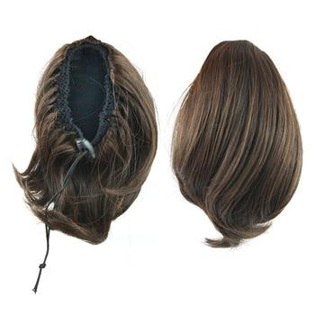 Cola de Caballo Soowee, negro, marrón, pelo sintético, pinza para extensión de cabello, postizos para cabello, caballo de cuento de hadas, My Little Pony