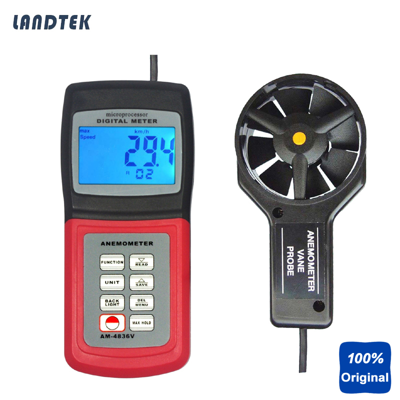 Digital Anemometer Portable Wind Meter AM-4836V