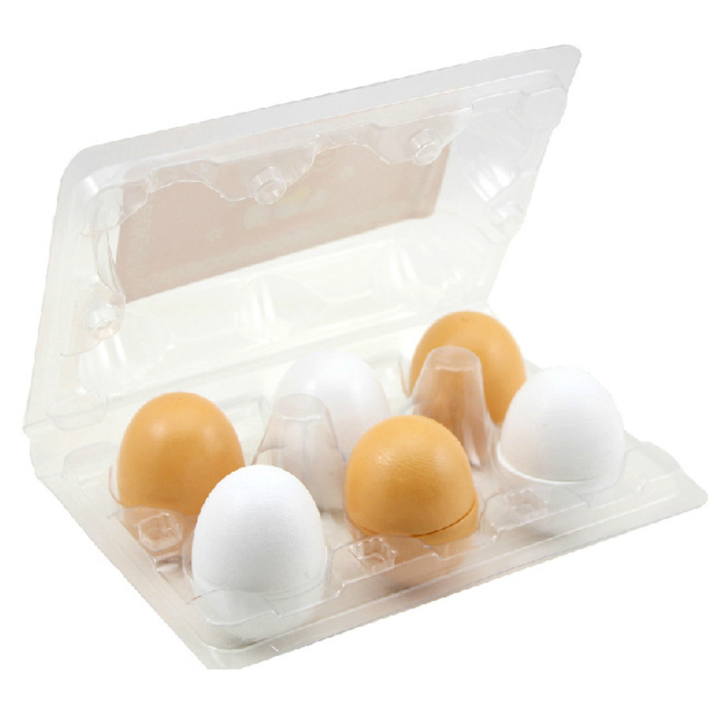 6PCS Eggs Yolk Pretend Play Kitchen toys Food Cooking Kids Children Baby Pretend Toys Funny Birthday Gifts in Kitchen Toys from Toys Hobbies