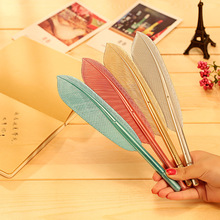 5Pcs Beautiful Feather Pens Ballpoint Pen Writing For School Supplies Stationery Cheap Items Cute Kawaii Pen Stationery Items