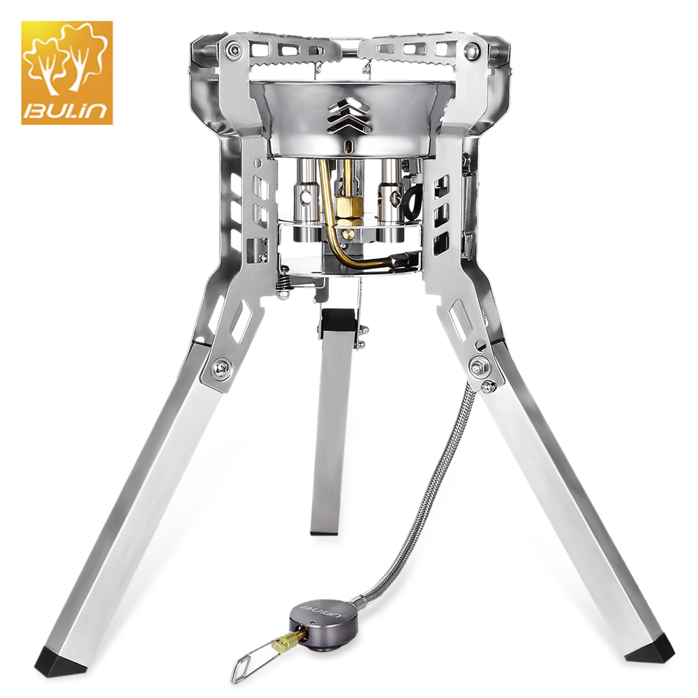Bulin BL100 B16 6800W Portable Outdoor Camping Stove Gas Burners Stove Stainless Steel Picnic Stove BBQ