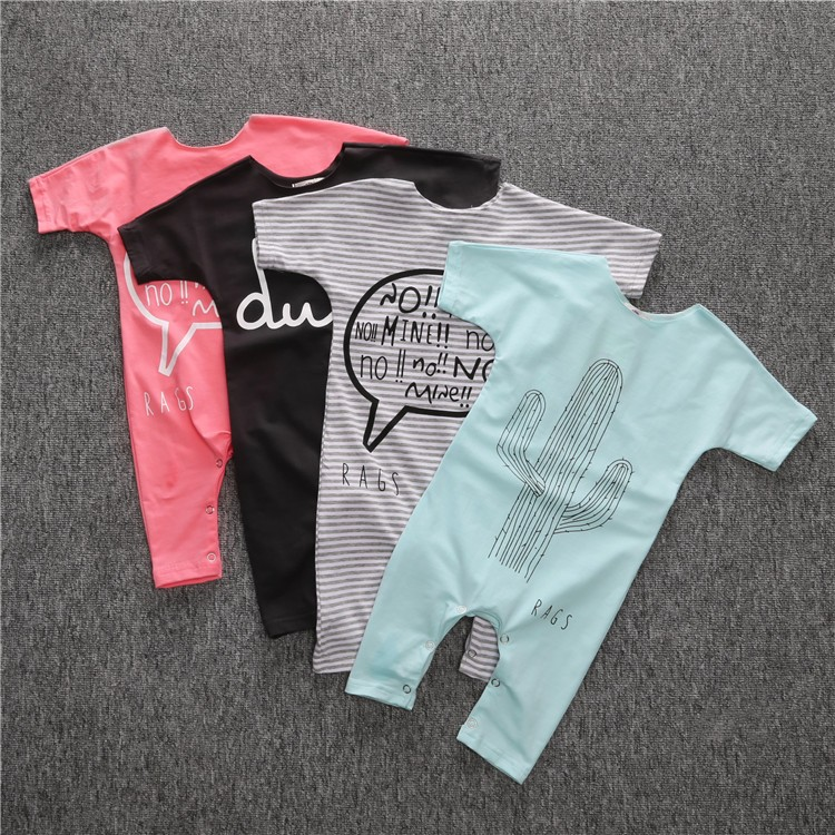 2016Baby Rompers Summer Style fashion Baby Boy Romper Girl Clothing Newborn Infant Short Sleeve Clothes fashion baby christmas tutu dress rompers short sleeve romper headband baby girl infant clothing sets baby birthday costumes
