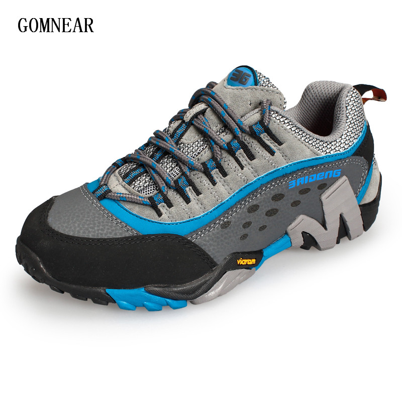 ФОТО GOMNEAR New Trend Winter Women HIking shoes Warm Outdoor tourism antiskid sneakers cozy camping jogging trekking Sport Shoes