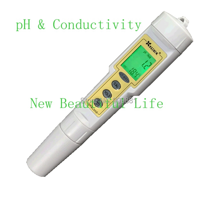 Waterproof Digital pH Conductivity Meter 0-14.00 pH 0-199.9 uS/cm Cond Tester Pharmaceutical Metallurgy Food Water PH&Cond Test