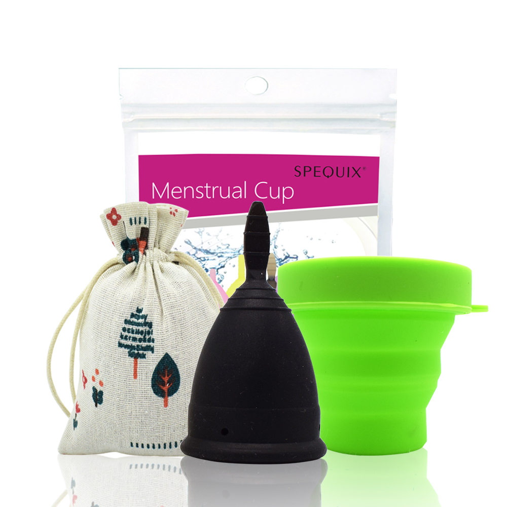 купить 1 SET Lady Periods Cup Menstrual Hygiene Cups with Foldable Collapsible Silicone Cup vagina care copa menstrual de недорого