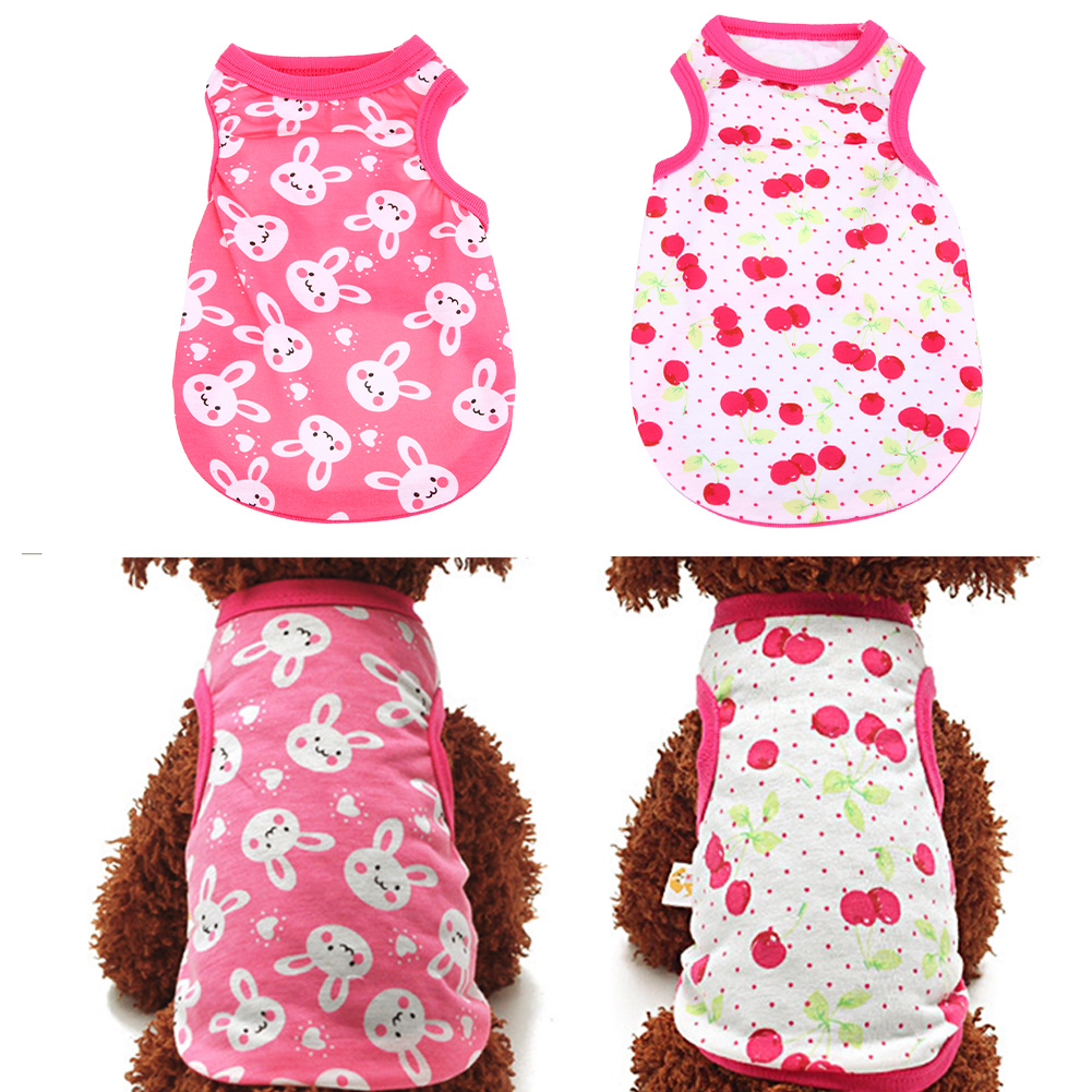 Summer Dog Clothes Pet Vest Puppy Dog Shirt Cats Clothes for Teddy Poodle Small Dogs Clothing Pet Apparel XS S M L XL Size