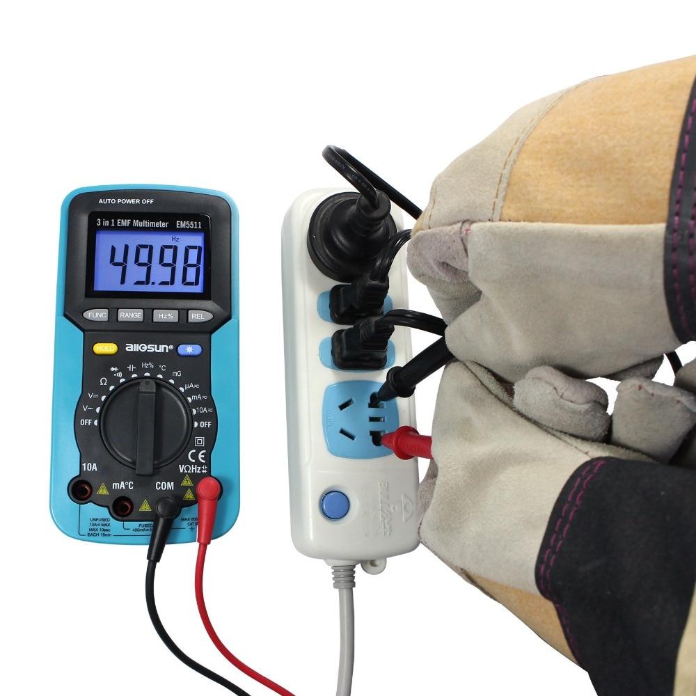 ALL SUN EM5511 3in1 Auto Range Digital Multimeter Voltmeter Ammeter - Mõõtevahendid - Foto 5