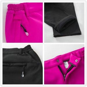 Image 5 - Noflen חורף גברים טיולים מכנסיים חיצוני טרקים Softshell נשים מכנסיים עמיד למים Windproof תרמית קמפינג סקי טיפוס
