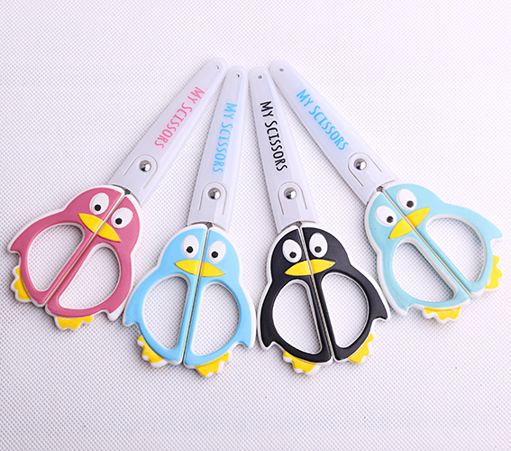 1pc Kawaii Penguin Series Scissors Round Head School Stationery Scissor Paper Cutting Office Kids Supplies (ss-1583)