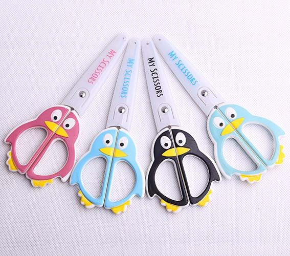 1pc Kawaii penguin series scissors round head School stationery scissor Paper cutting Office kids supplies (ss-1583)