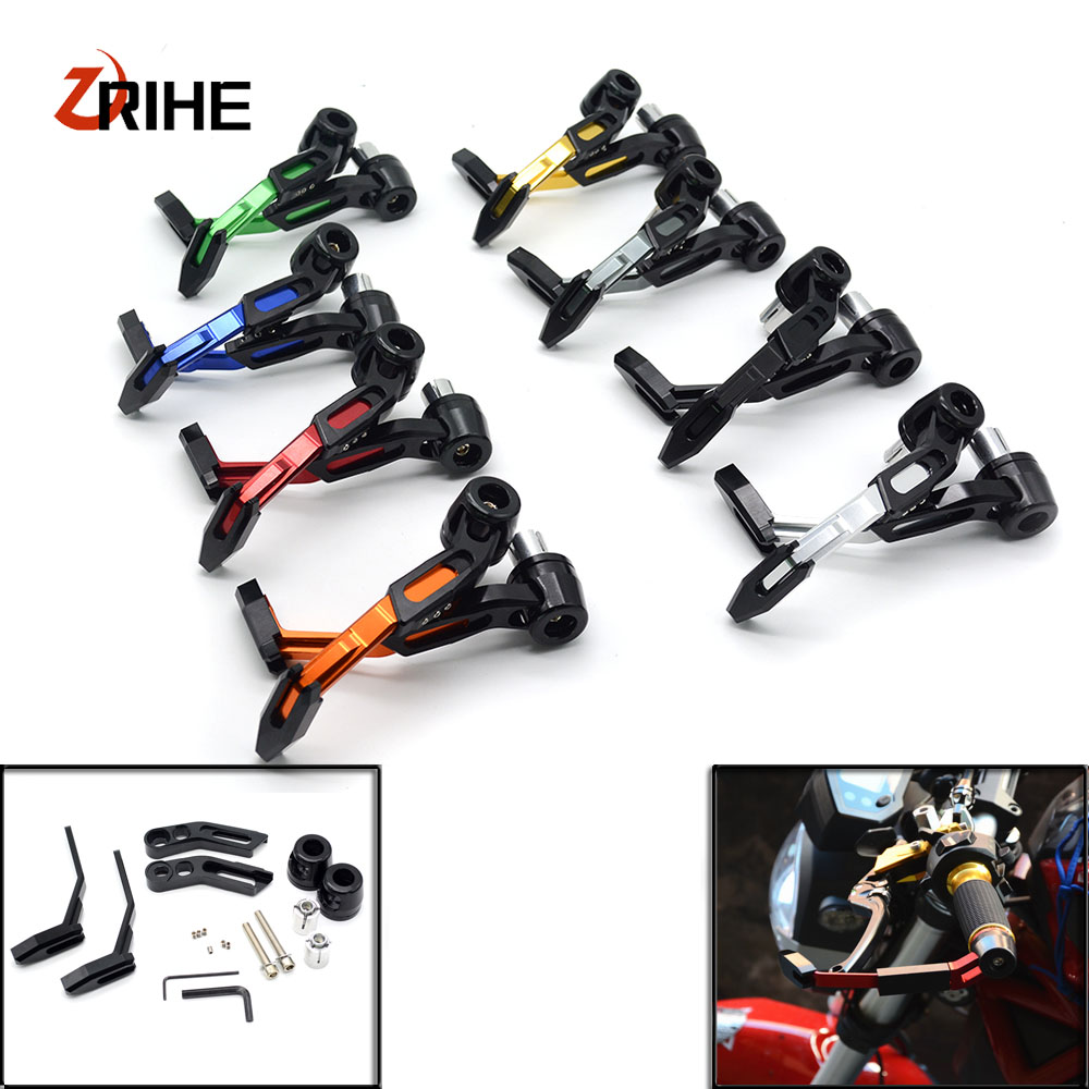 цена на 7/8 22mm CNC Motorcycle Proguard System Brake Clutch Levers Protect Guard For Kawasaki z250 z300 versys x 300 zx636r zx6rr