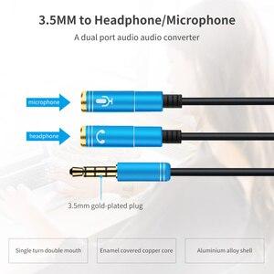 Image 5 - 2RCA כדי 3.5 מיקרופון Aux כבל עבור מחשב נייד אוזניות 1 זכר 2 Famle אודיו כבל מאריך משולבת נייד אודיו מתאם ספליטר