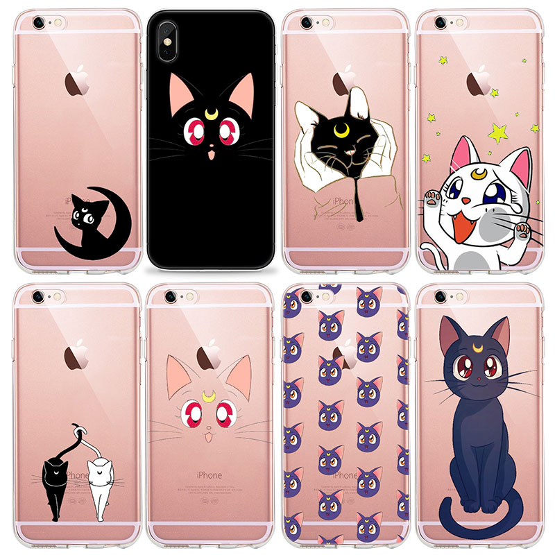 In Design; Cute Cartoon Comics Sailor Moon Soft Case For Iphone 4 5 6 8 Plus X Xs Xr Maxse Phone Cover Tpu Silicone Coque Novel