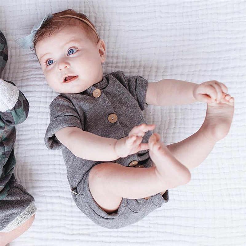 Pudcoco 男の赤ちゃん女の子アクティブボタンポップ遊び着綿子供の少年少女のボディスーツ暖かい服セット 0-24 m