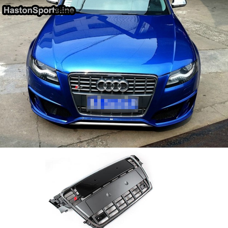 2010 Audi A4 Performance Upgrades: A4 B8 Chrome Frame Grey Front Bumper Middle Grill Grille