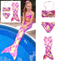 New Design Fashion Muiltcolor Mermaid Tail 4-10Y Baby Girls Vintage Swimmable Mermaid Swimsuit for Swimming Sandy Beach Costume