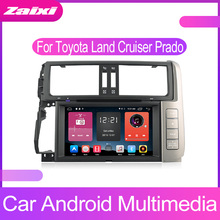 все цены на ZaiXi Touch screen Android car Audio for Toyota Land Cruiser Prado LC150 2010-2013 GPS navi BT radio mic Media Navigation system онлайн