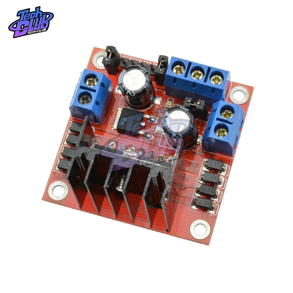 L298N Driver Board Module L298 Stepper DC Motor Car Robot Shield Expansion Development Board Plug-in Capacitor For Arduino