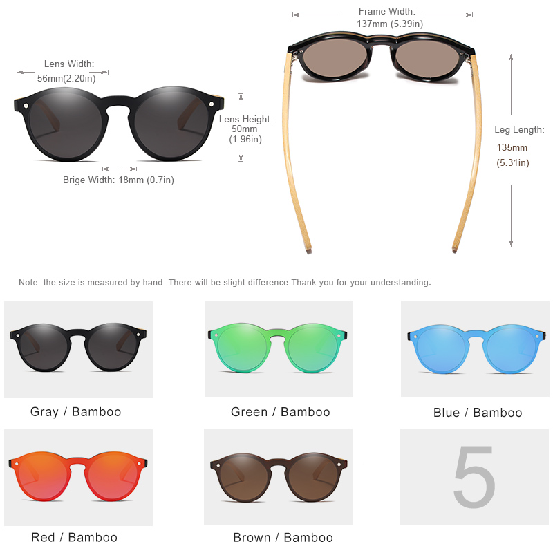 KINGSEVEN Sunglasses Men Bamboo Sun Glasses Women Brand Designer Original Wood Glasses Oculos de sol masculino 4