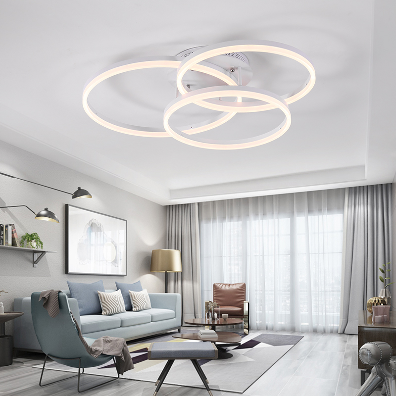 led Ceiling light Round living room lamp simple modern home bedroom lamp creative Nordic restaurant led lights led ceiling lights living room light led ceiling lamp simple creative fashion restaurant lights bedroom hall lamp aluminum lamp