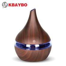 Air Ultrasonic Humidifier USB Charging 7 Color Led Night Light Aromatherapy Essential Oil Aroma Diffuser wood grain For Home цена и фото