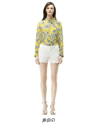 be7dd651be6 US $60.0 |Club Monaco Brand,Abstract floral print 100% silk women t  shirt,Long sleeved Grier blouse,Free Shipping,Official Price $139-in  Blouses & ...