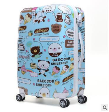 Kids Carry On Suitcase  Wheels  Girl's Boy's 20 24 Inch