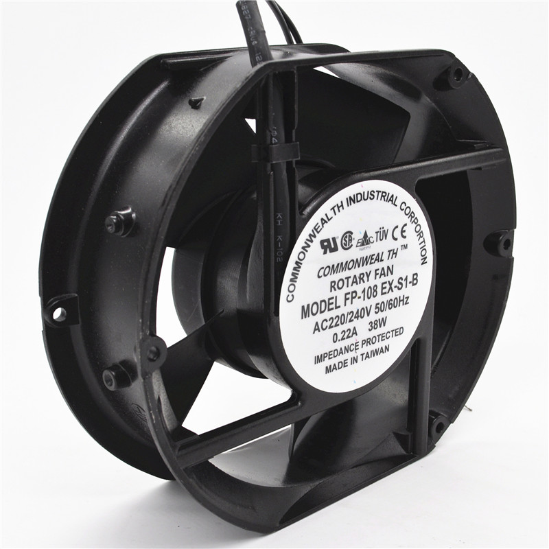 Axial Fan FP-108EX-S1-B 220V 38W Dual Bearing Cooling Fan Oval 172x150x51mm