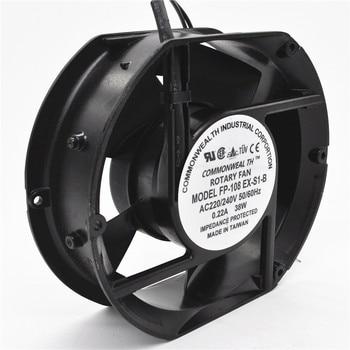 Axial Fan FP-108EX-S1-B 220V 38W Dual Bearing Cooling Fan Oval 172x150x51mm brand new sj1725ha2 220v 1751 17cm axial cooling fan 172 150 51mm 2700 rpm 190cfm