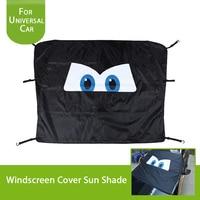 Windshield Sun Shade Cartoon Eyes Car Window Shade Keeps Vehicle Cool Folding Sun Visor Heat and Sun Reflector (Ultra Large) 1PC