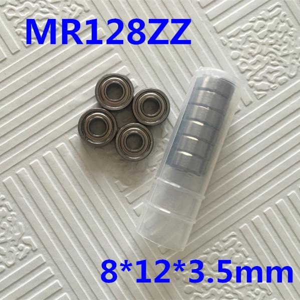Free Shipping 10 PCS MR128ZZ ABEC-1 8X12X3.5 mm Deep groove Ball Bearings MR128 / L-1280 ZZ Miniature MR128-2Z free shipping 10 pcs open type mr85 bearings 5x8x2 5 mm miniature ball bearings l 850 mr85