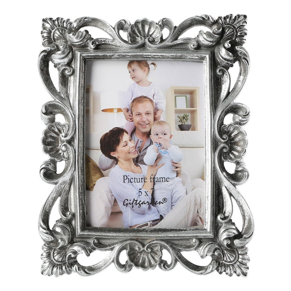 giftgarden  silver picture frame classic photo frames