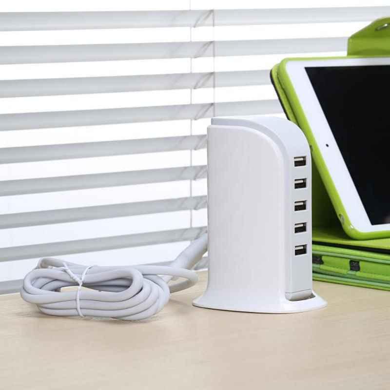 Универсальный 5 Порты зарядное устройство usb multi зарядка через usb станция Док-станция мобильного телефона настольные часы настенные домашние зарядные устройства EU штепсельная вилка американского стандарта